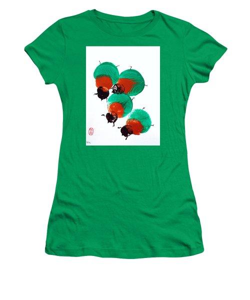 Nippon No Kabutomushi Women's T-Shirt (Junior Cut) by Roberto Prusso