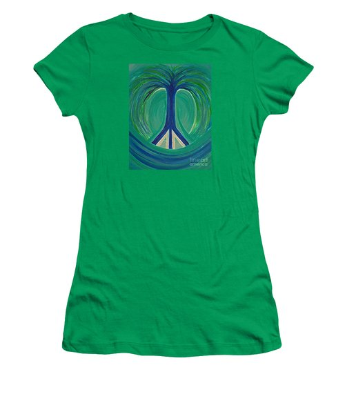 Peace Tree By Jrr Women's T-Shirt (Athletic Fit)