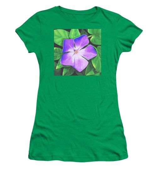 Periwinkle Women's T-Shirt (Junior Cut) by Sophia Schmierer
