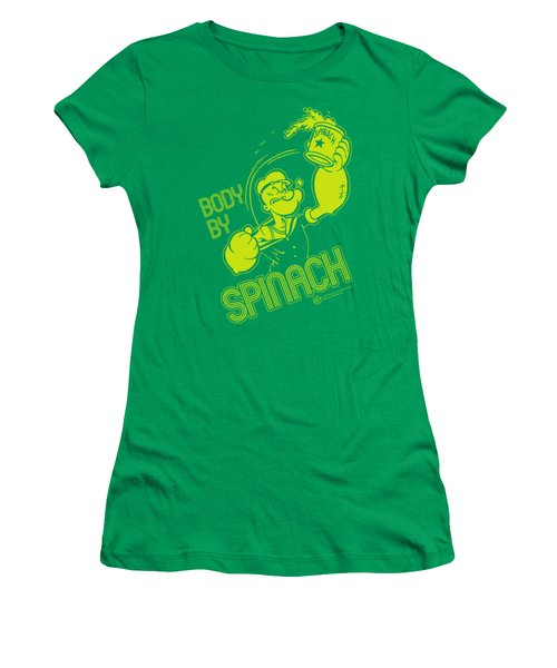 Popeye - Body By Spinach Women's T-Shirt (Athletic Fit)