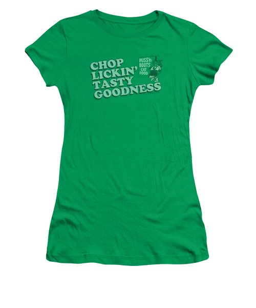 Puss N Boots - Chop Lickin Tasty Goodness Women's T-Shirt (Athletic Fit)