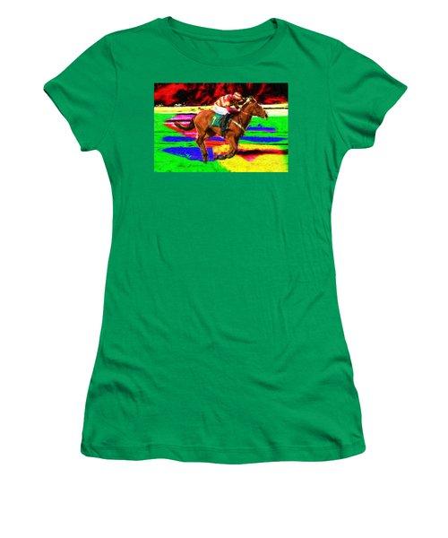 Racehorse Women's T-Shirt (Athletic Fit)