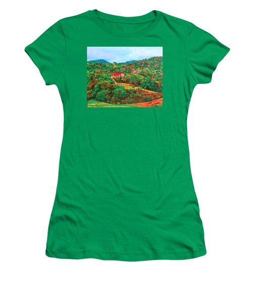 Scene From Mahogony Bay Honduras Women's T-Shirt