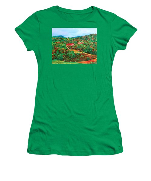 Scene From Mahogony Bay Honduras Women's T-Shirt
