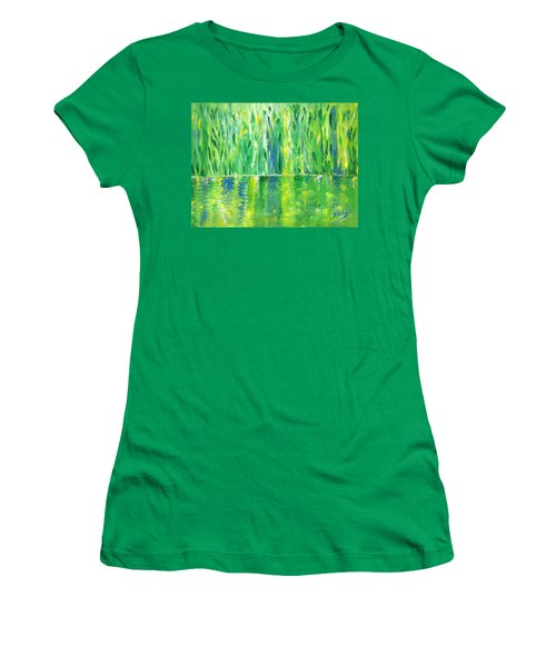 Serenity In Green Women's T-Shirt (Athletic Fit)