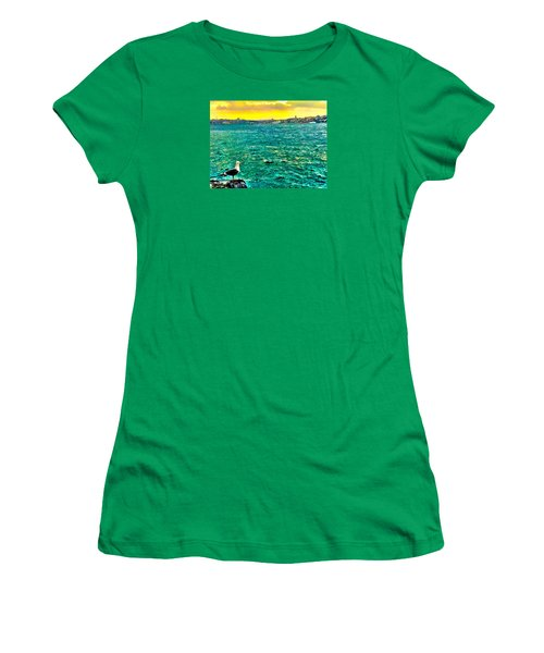She Is Late Again  Women's T-Shirt (Junior Cut) by Zafer Gurel