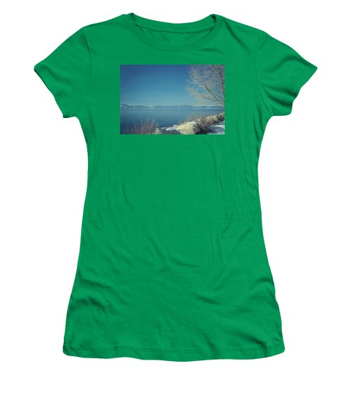 Snowing In Tahoe Women's T-Shirt