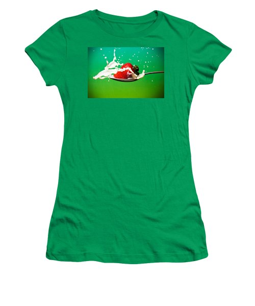 Strawberry Milk Women's T-Shirt (Athletic Fit)