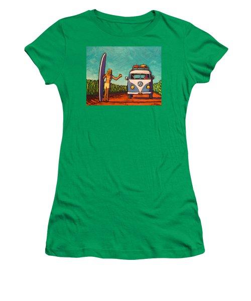 Surfer Girl And Vw Bus Women's T-Shirt