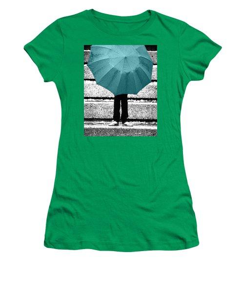 Tiffany Blue Umbrella Women's T-Shirt