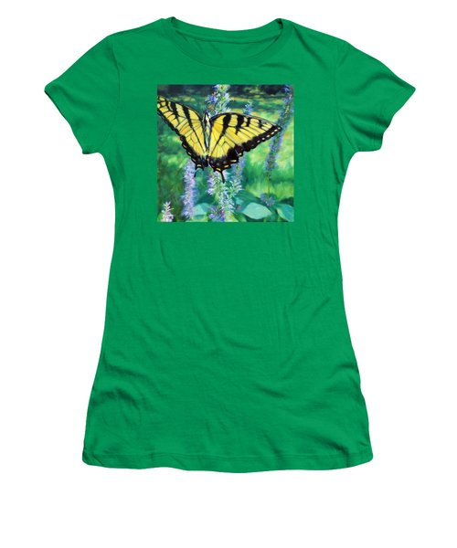 Tiger Swallowtail- Enjoying The Sweetness Women's T-Shirt (Athletic Fit)