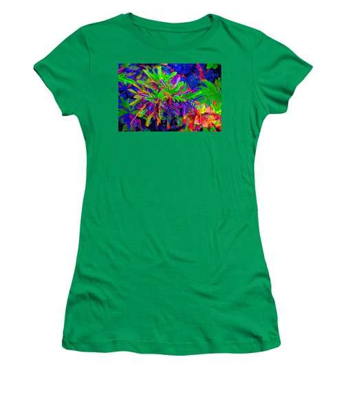 Women's T-Shirt (Junior Cut) featuring the photograph Tropicals Gone Wild by David Lawson