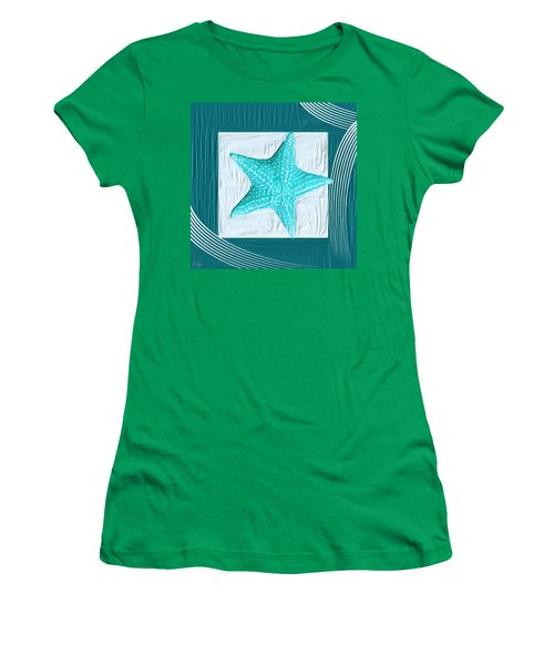 Turquoise Seashells Xviii Women's T-Shirt