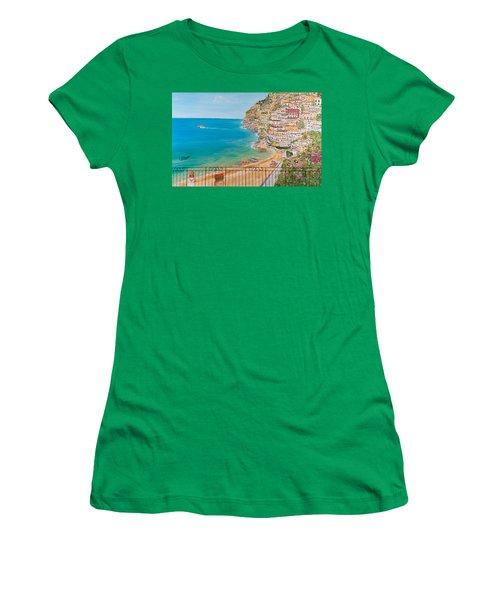 Vista Su Positano Women's T-Shirt (Athletic Fit)