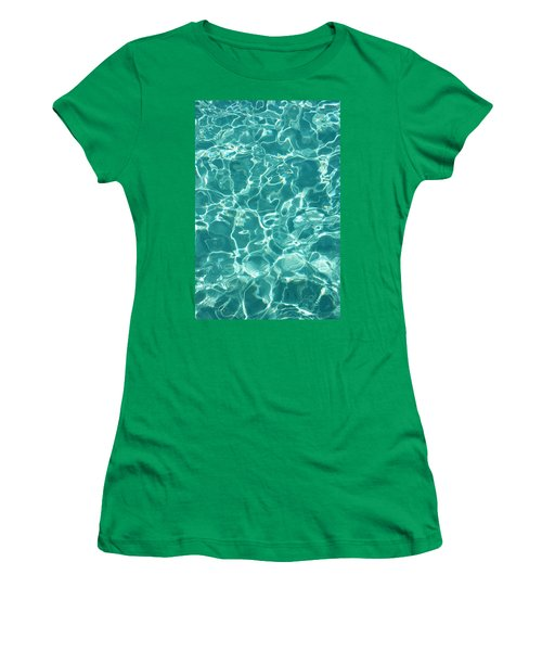 Water Meditation I. Five Elements. Healing With Feng Shui And Color Therapy In Interior Design Women's T-Shirt (Junior Cut) by Jenny Rainbow