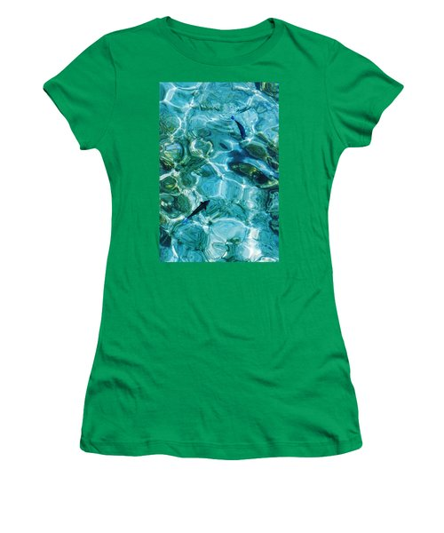 Water Meditation II. Five Elements. Healing With Feng Shui And Color Therapy In Interior Design Women's T-Shirt (Junior Cut) by Jenny Rainbow