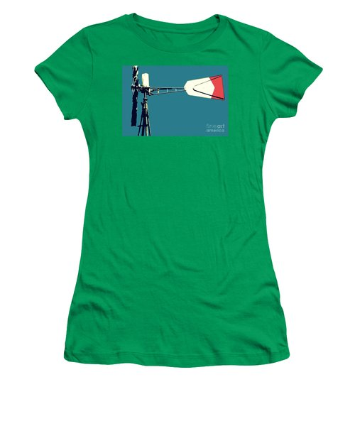 Women's T-Shirt (Junior Cut) featuring the digital art Windmill 2 by Valerie Reeves