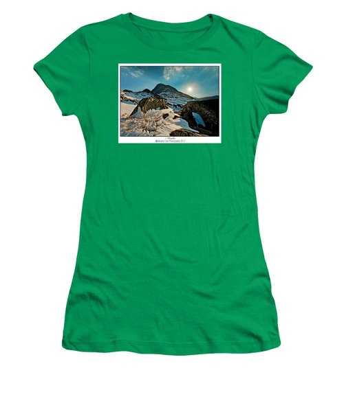 Spring Snows At Tryfan Women's T-Shirt