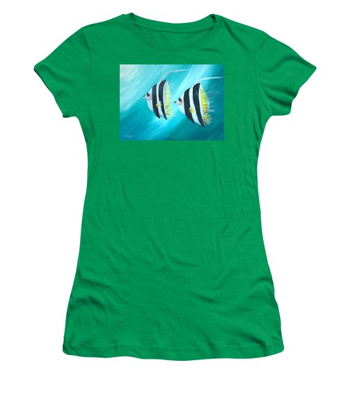Angel Fish Women's T-Shirt (Athletic Fit)