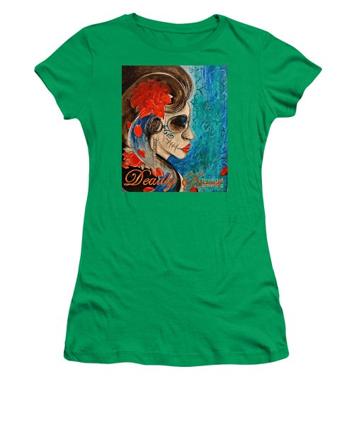 Women's T-Shirt (Junior Cut) featuring the painting Deadly Sweet by Sandro Ramani
