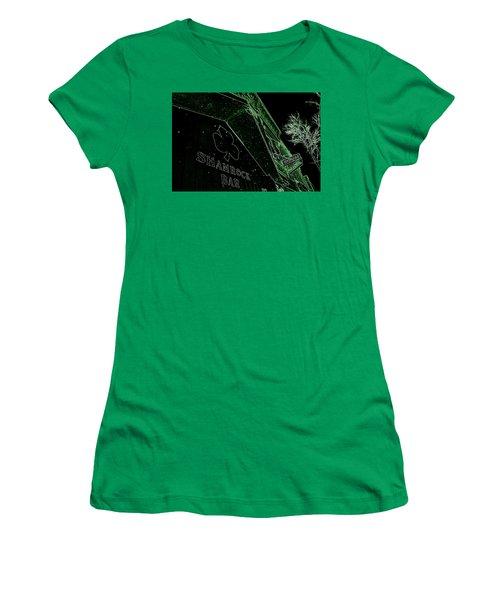 Green Night Women's T-Shirt (Junior Cut) by Zafer Gurel
