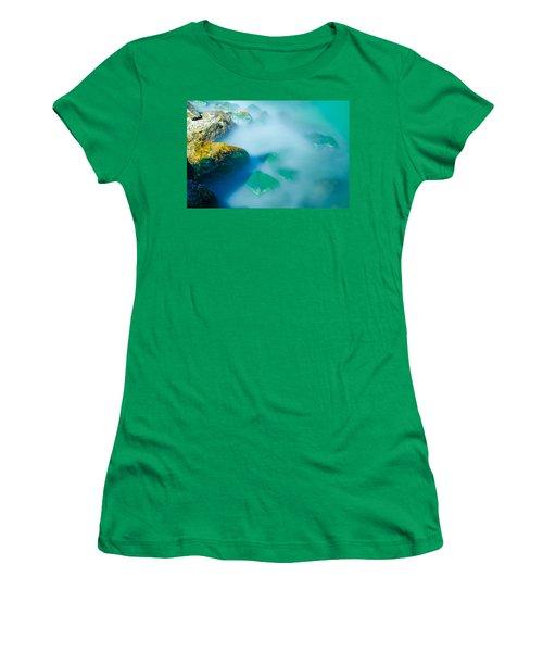 Misty Water Women's T-Shirt (Junior Cut) by Jonah  Anderson