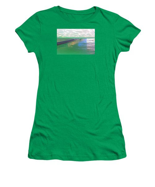 Women's T-Shirt (Junior Cut) featuring the photograph Reflections by Nareeta Martin