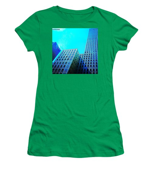#blue #buildings And #bluesky On A Women's T-Shirt