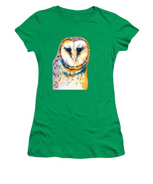 Gorgeous Barn Owl Women's T-Shirt (Athletic Fit)