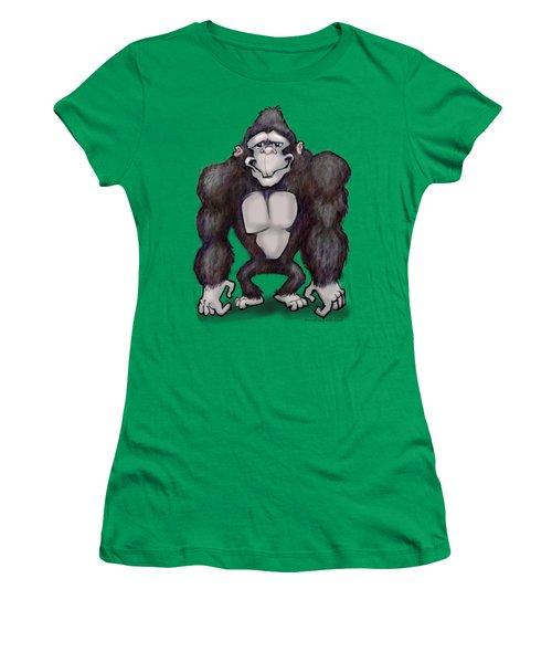 Gorilla Women's T-Shirt (Junior Cut) by Kevin Middleton