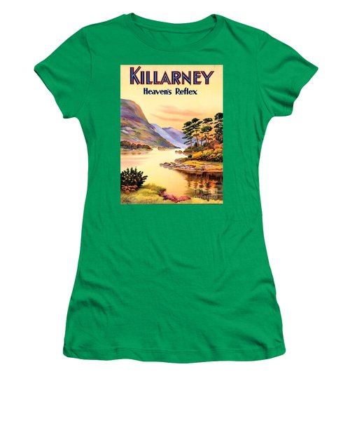 Women's T-Shirt (Junior Cut) featuring the painting Killarney by Pg Reproductions