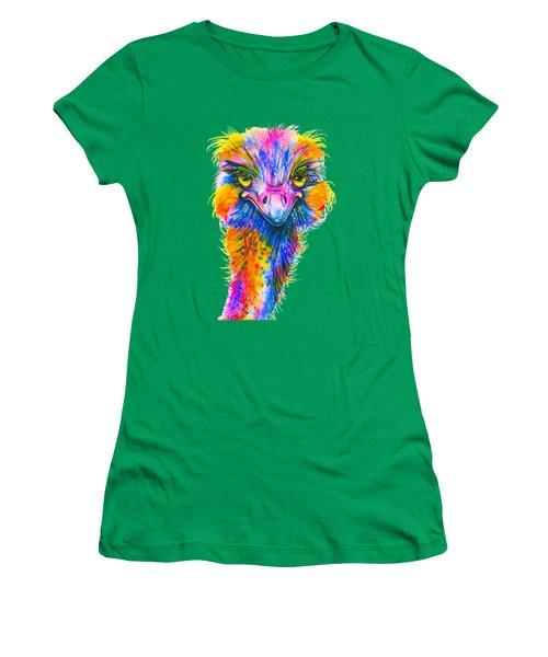 Rainbow Ostrich  Women's T-Shirt