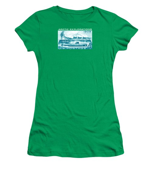 Women's T-Shirt (Junior Cut) featuring the painting 1959 Arctic Explorations by Historic Image