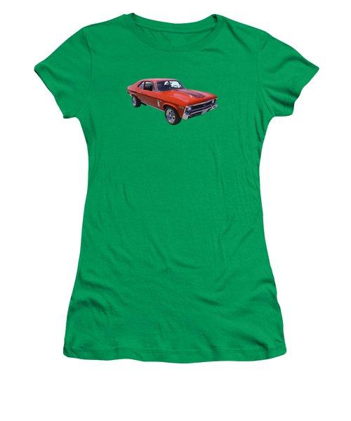 1969 Chevrolet Nova Yenko 427 Muscle Car Women's T-Shirt (Junior Cut) by Keith Webber Jr