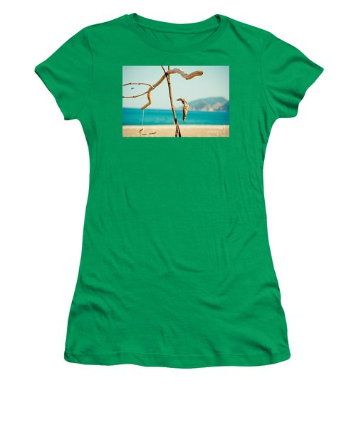 Nature Sculpture At Coast Seascape Artmif.lv Women's T-Shirt