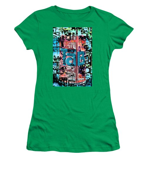 Women's T-Shirt (Junior Cut) featuring the mixed media A Million Colors One Calorie by Tony Rubino