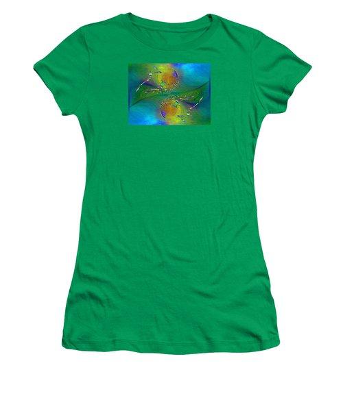 Women's T-Shirt (Junior Cut) featuring the digital art Abstract Cubed 359 by Tim Allen