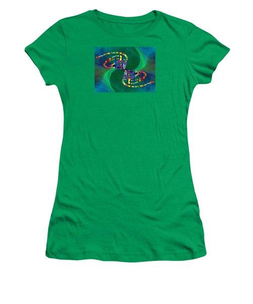 Women's T-Shirt (Junior Cut) featuring the digital art Abstract Cubed 374 by Tim Allen