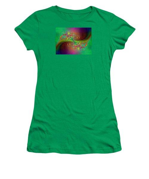 Women's T-Shirt (Junior Cut) featuring the digital art Abstract Cubed 379 by Tim Allen