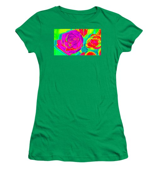 Blooming Roses Abstract Women's T-Shirt