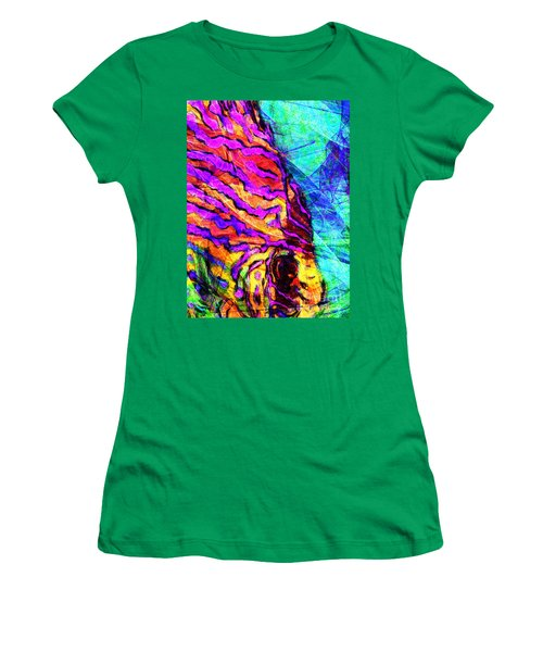 Women's T-Shirt featuring the photograph Abstract Vibrant Tropical Fish Discus 20170910 by Wingsdomain Art and Photography