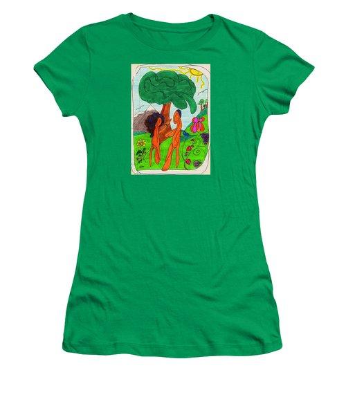 Adam And Eve Women's T-Shirt (Junior Cut) by Martin Cline