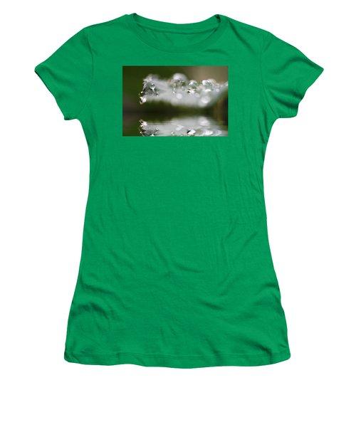 Afternoon Raindrops Women's T-Shirt (Junior Cut) by Kym Clarke