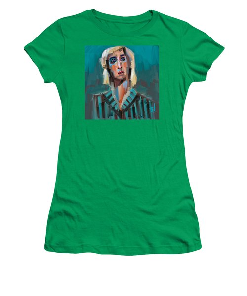 Women's T-Shirt (Athletic Fit) featuring the digital art Anthony by Jim Vance