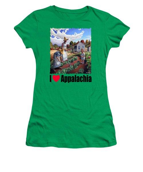 I Love Appalachia - Family Garden Appalachian Farm Landscape Women's T-Shirt