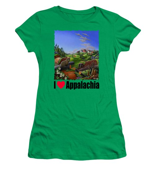 I Love Appalachia - Spring Groundhog Women's T-Shirt (Junior Cut) by Walt Curlee