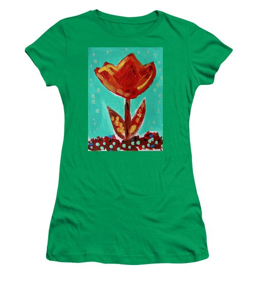 Avis-flowers From The Flower Patch Women's T-Shirt (Athletic Fit)