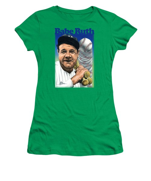 Babe Ruth Shirt Women's T-Shirt (Athletic Fit)