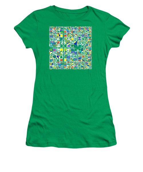 Background Choice Squares Women's T-Shirt (Junior Cut) by Barbara Moignard