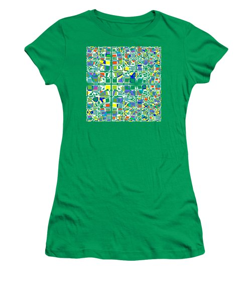 Background Choice Squares Women's T-Shirt (Athletic Fit)